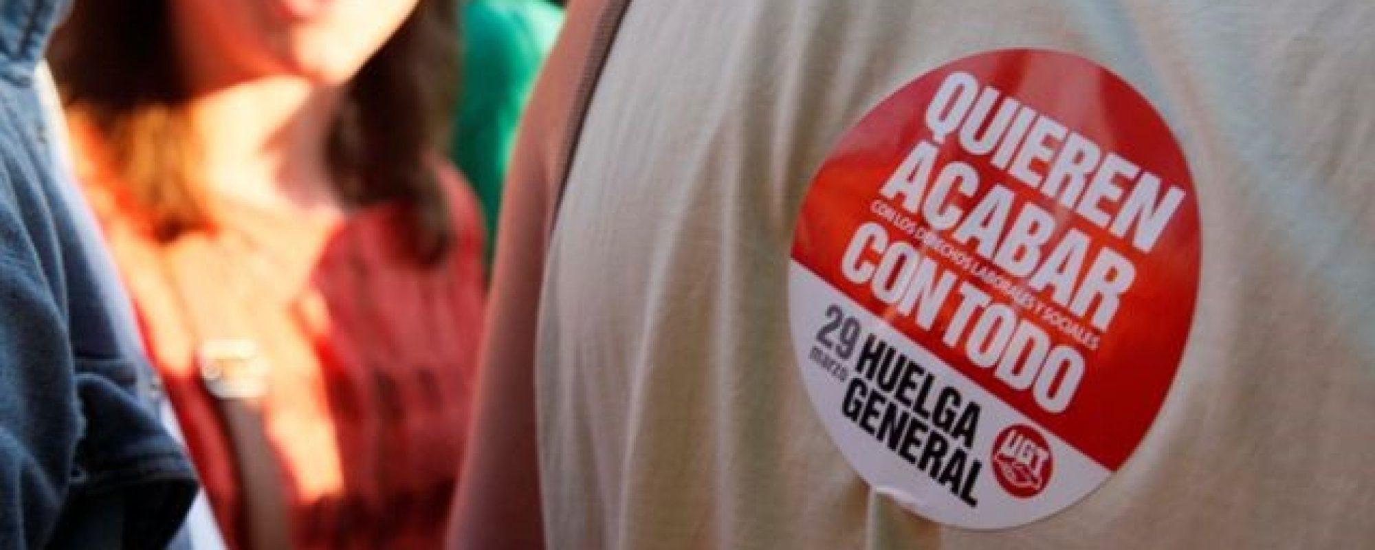 pegatina huelga general del 29.03.2012